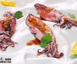 Calamares con aderezo de jengibre y chile