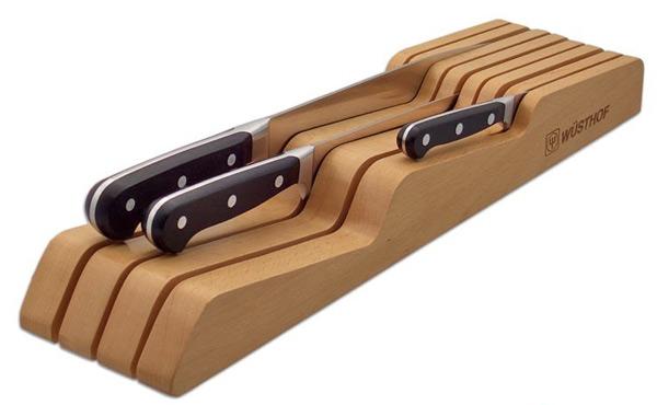 Taco de madera para cuchillos