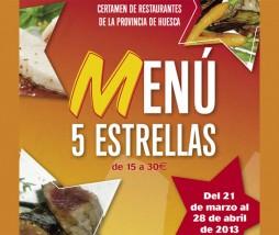 Certamen de Restaurantes de Huesca 'Menú 5 Estrellas'