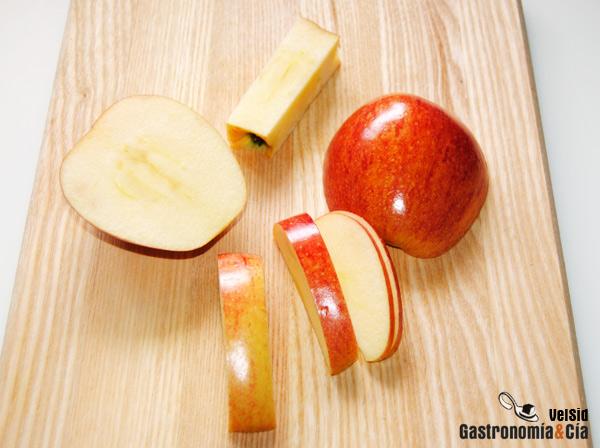 Cortar manzanas