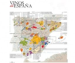 Vinos de España, mapa de Denominaciones de Origen y Vinos de la Tierra