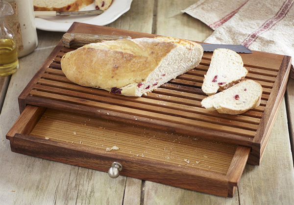 Tabla para cortar pan con recogemigas gastronom a c a for Tablas de corte cocina