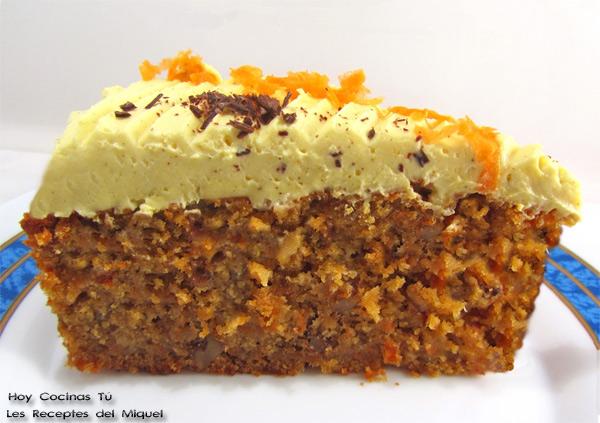 receta de pastel de zanahoria facil
