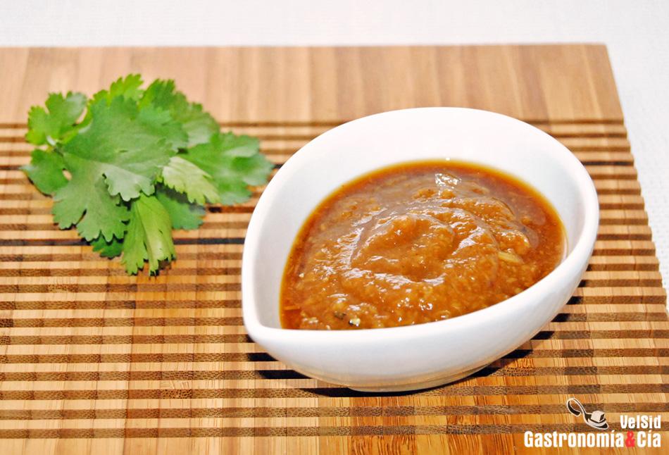 Salsa de ajo asado jengibre y soja gastronom a c a - Salsa para pollos asados ...