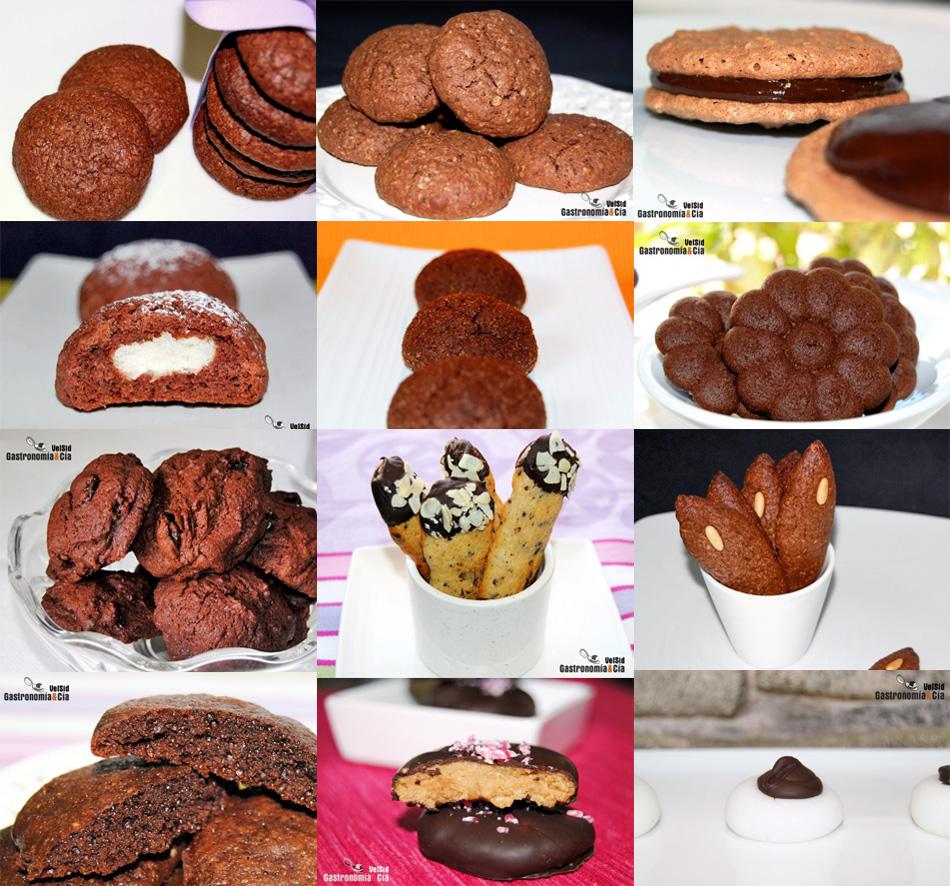 Doce recetas de galletas con chocolate