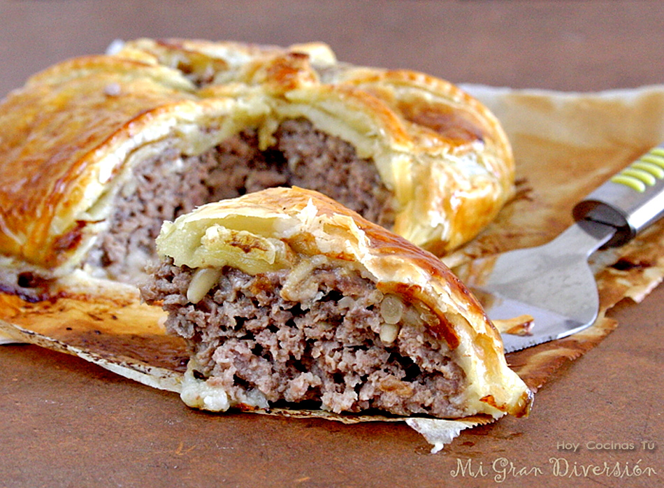 Hoy Cocinas Tú: Pastel de carne, bacon y queso roquefort