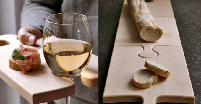 Tablas para cortar y servir en piezas de puzzle - Como hacer una tabla para picar de madera ...