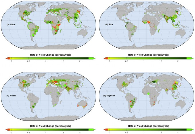 Evolución de los cultivos en el mundo