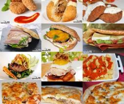 Hamburguesas, patatas fritas, pizzas, bocadillos...