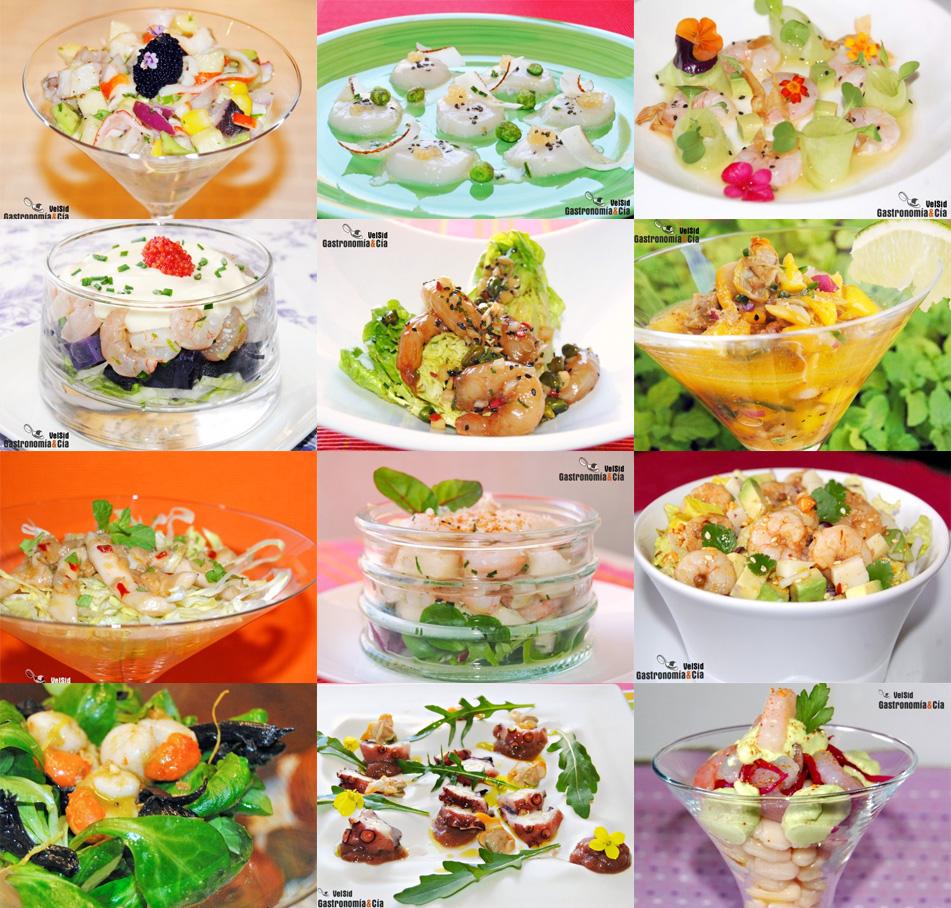 Doce recetas de ensalada con marisco