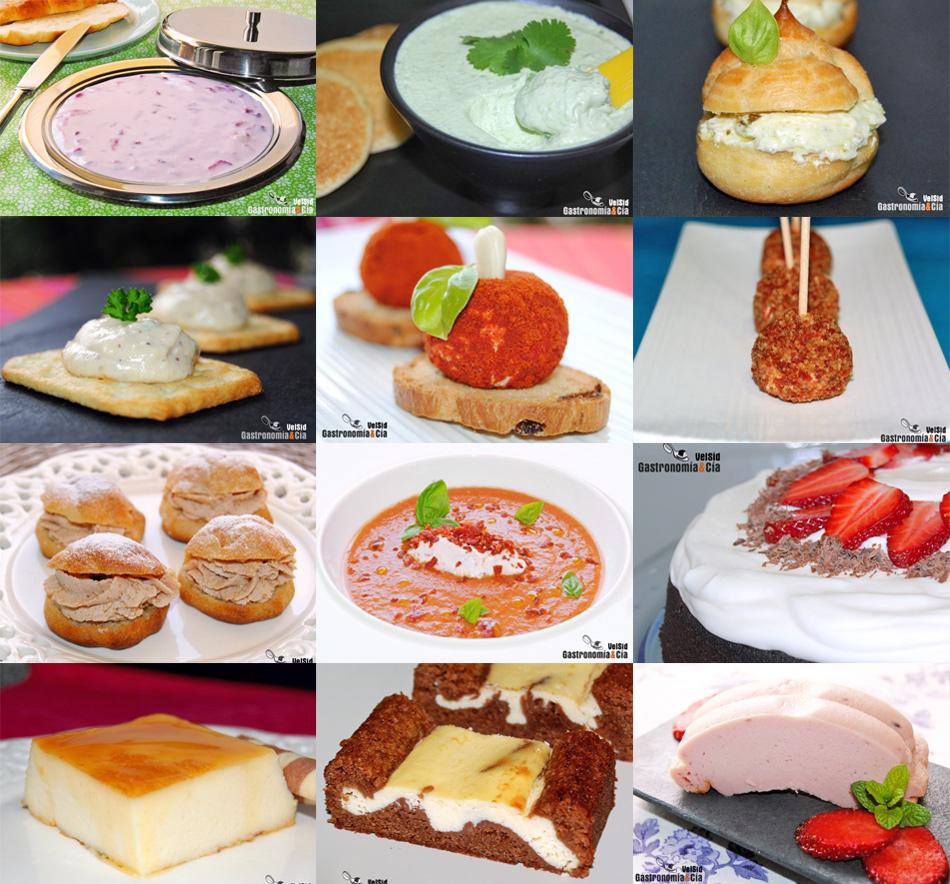 Doce recetas con queso crema