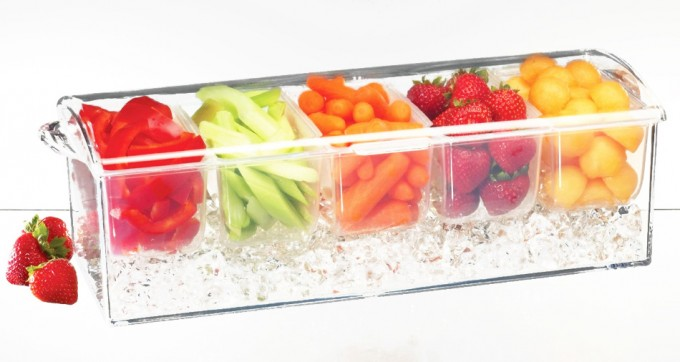 Salsas y otros ingredientes conservados con hielo
