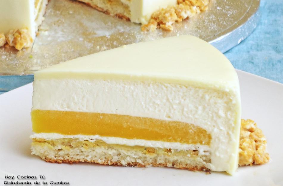 Hoy Cocinas Tú: Tarta de chocolate blanco, yogur y mango