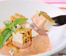 Tofu con salsa de lemon grass y GochuJang