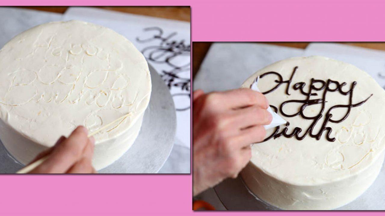Truco De Cocina Cómo Escribir En Un Pastel Gastronomía Cía