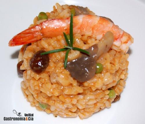 Receta de arroz con setas y langostinos for Arroz con setas y trufa