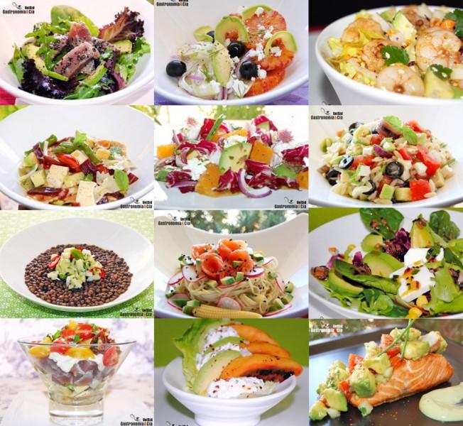 Doce recetas de ensalada con aguacate gastronom a c a for Tipos de platos