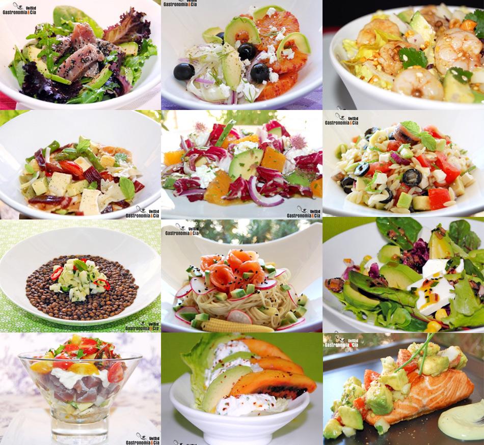 Doce recetas de ensalada con aguacate gastronom a c a - Cocina y cia ...