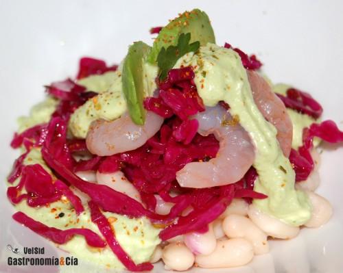 Ensalada de jud as blancas con ajoblanco de aguacate gastronom a c a - Ensalada fria de judias blancas ...