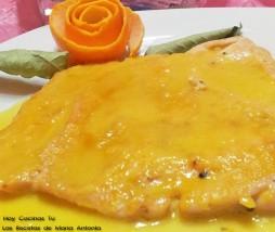 Pechuga de pollo con salsa de naranja