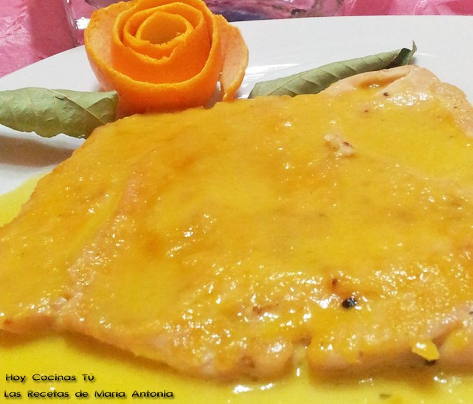 Hoy Cocinas Tú: Pechuga de pollo con salsa de naranja