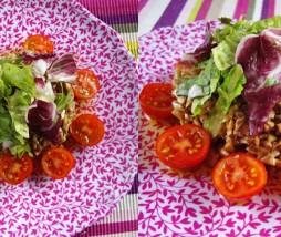 Ensalada con champiñones marinados