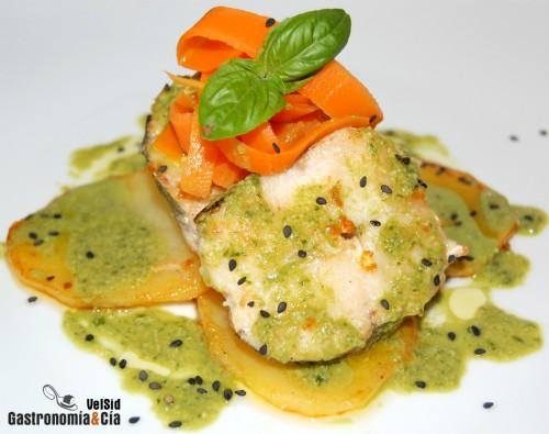 Receta De Merluza Con Salsa De Albahaca Gastronom A C A