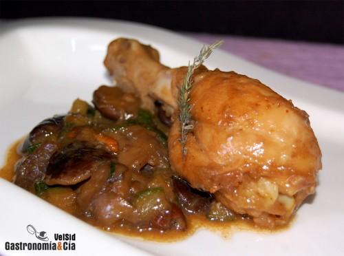 Pollo guisado con setas gastronom a c a - Pollo de corral guisado ...