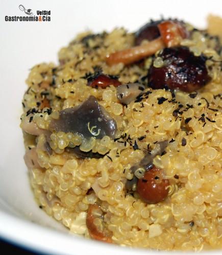 Quinotto de setas gastronom a c a for Cuanto se cocina la quinoa