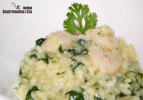 Risotto de gambas y espinacas gastronom a c a for Espinacas como cocinarlas