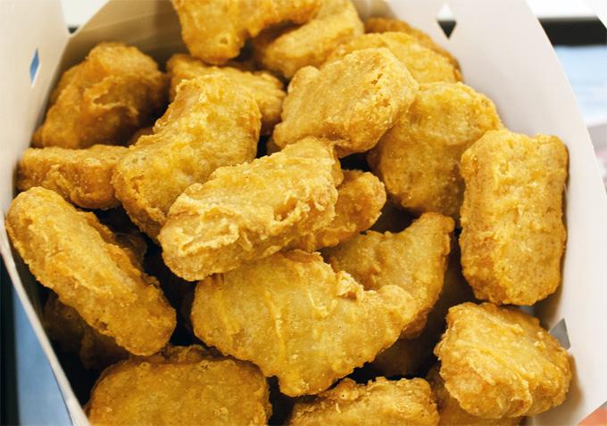 Composición de los nuggets de pollo