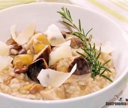 Receta de risotto con castañas y setas
