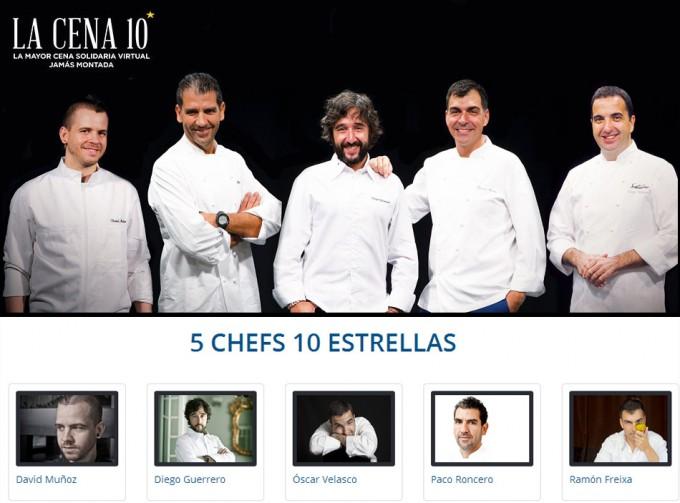 David Muñoz, Paco Roncero, Ramón Freixa, Diego Guerrero y Óscar Velasco