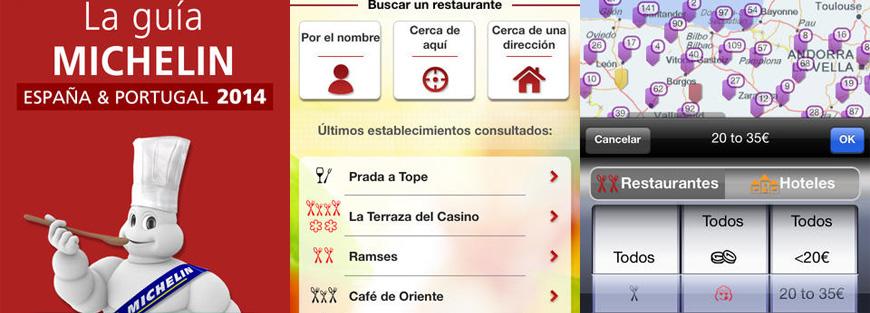 Guía Michelin 2014 de España y Portugal para iPhone