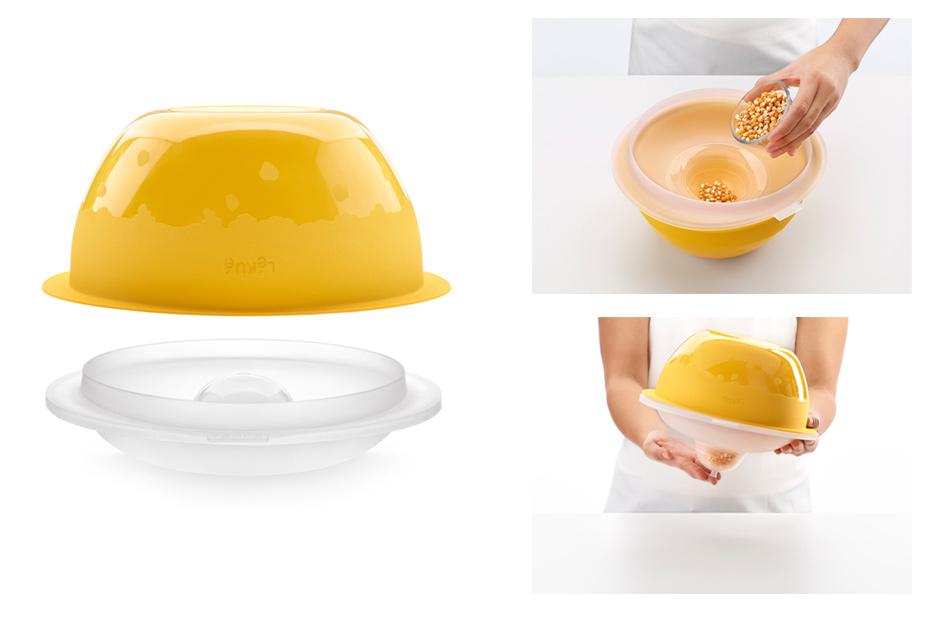 Bol para hacer palomitas en el microondas - Silicona para microondas ...
