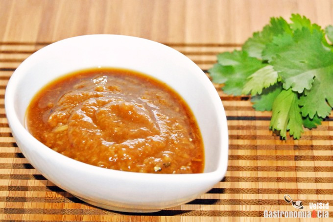 Apurar un tarro de mermelada