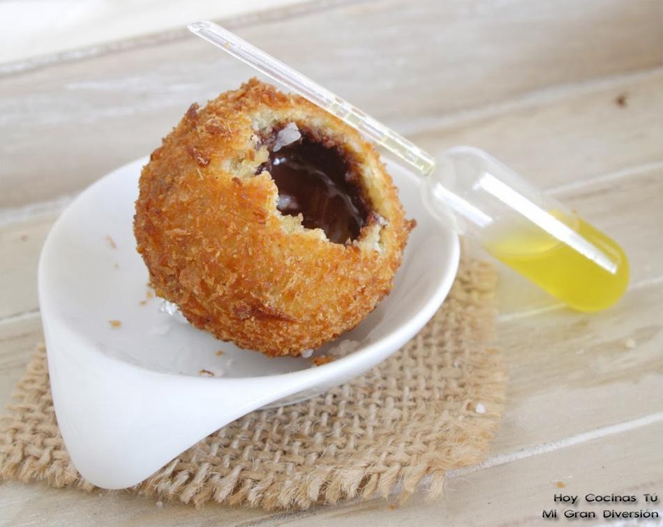 Hoy Cocinas Tú: Croquetas líquidas de chocolate, con aceite de oliva y flor de sal