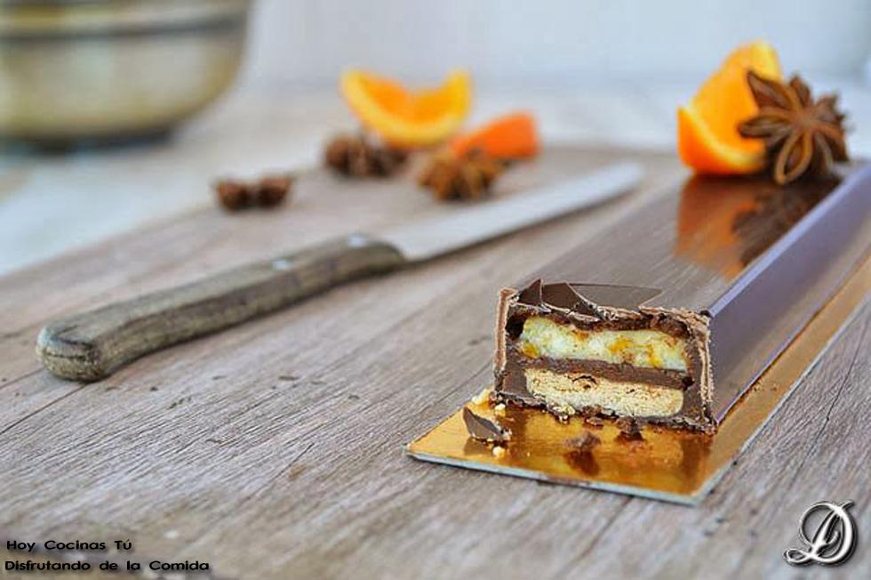 Hoy Cocinas Tú: Turrón de chocolate con sablé bretón, mandarina y anís estrellado