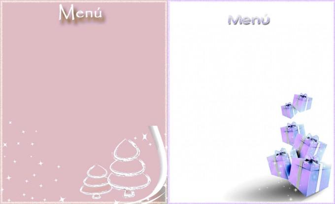 Plantillas para imprimir el menú de Nochevieja o de Año Nuevo