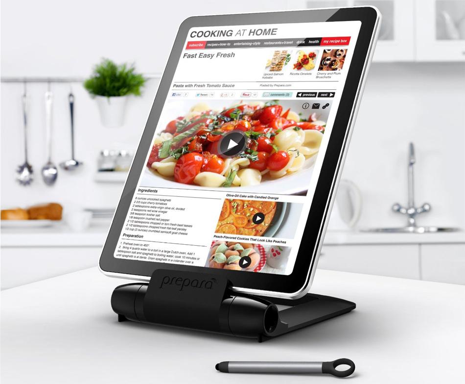 Soporte de tablet para la cocina for Soporte utensilios cocina