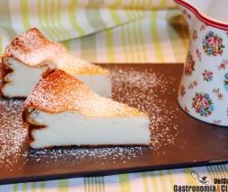 Tarta de queso con claras de huevo (sin yema)
