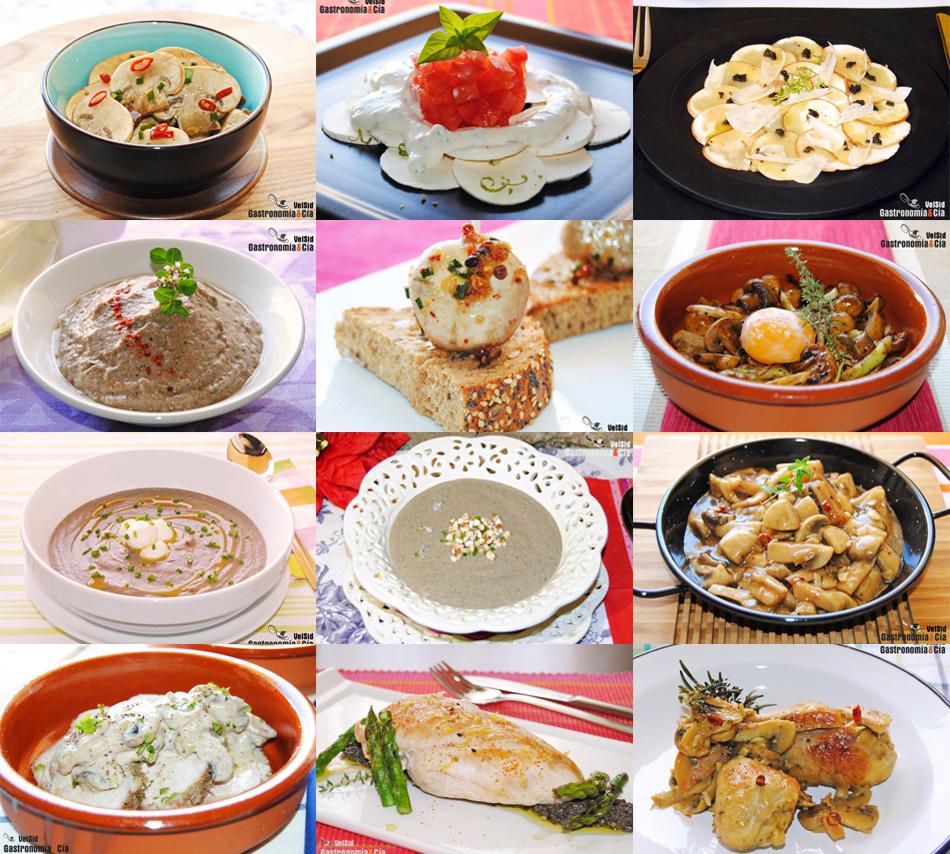Doce recetas fáciles y sabrosas con champiñones