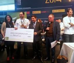 Ganador del Premio Internacional de Cocina con Aceite de Oliva Virgen Extra 'Jaén Paraíso Interior' 2014