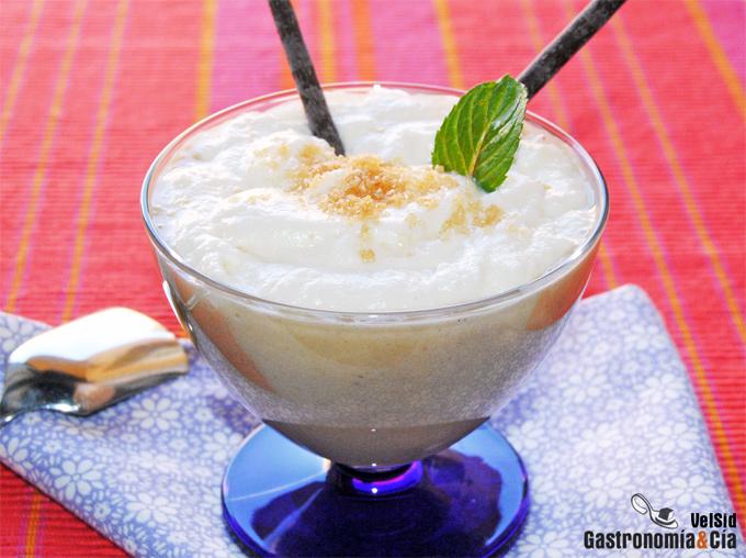 Crema de plátano y coco