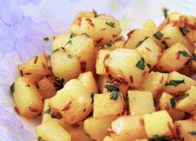 Patatas en dados