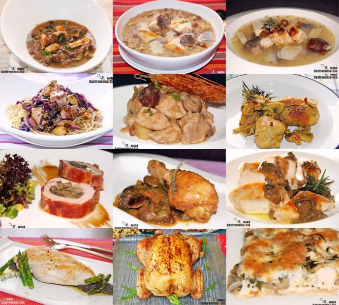 Recetas con pollo y setas