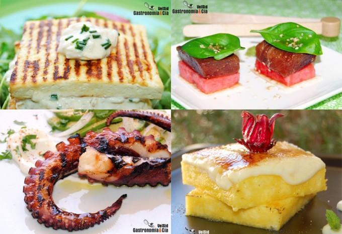 Tofu, sandía, pulpo, piña...