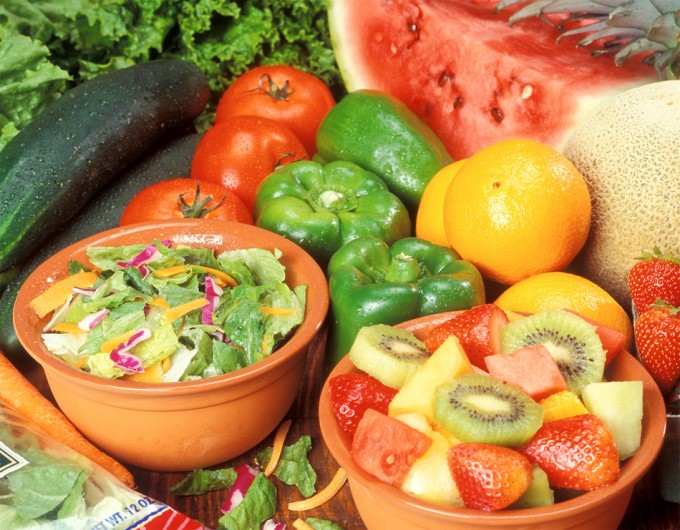 Consumo verduras y frutas