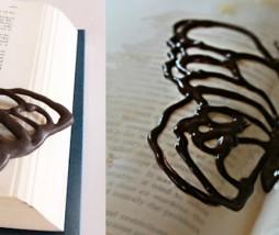 Mariposa de chocolate para pasteles