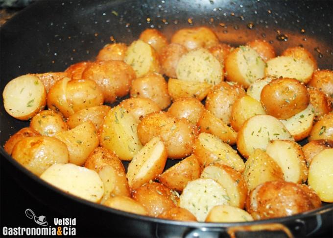 Patatas risoladas pommes de terre rissol es - Pomme de terre rissolees maison ...
